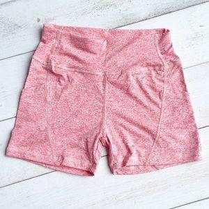 NWT Space Dye Coral Activewear Bike Shorts